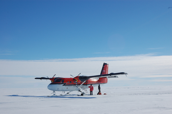 Twin Otter on ice